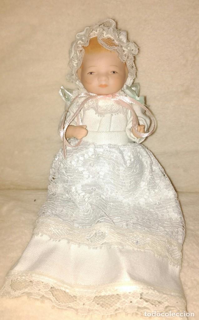 Muñecas Porcelana: Muñeca de porcelana coleccion Leonardo con cochecito antiguo y bebe. - Foto 7 - 80162265