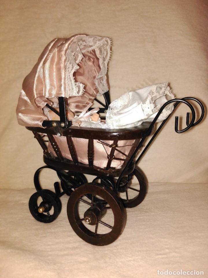 Muñecas Porcelana: Muñeca de porcelana coleccion Leonardo con cochecito antiguo y bebe. - Foto 11 - 80162265