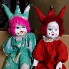 Muñecas Porcelana: LOTE PAREJA PAYASOS PORCELANA . Lote 81146676