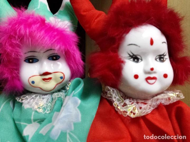 Muñecas Porcelana: LOTE PAREJA PAYASOS PORCELANA - Foto 5 - 81146676