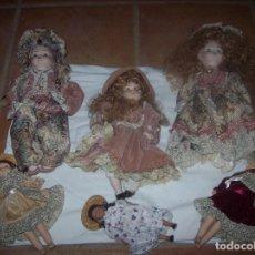 Muñecas Porcelana: IMPRESIONANTE LOTE DE MUÑECAS-MUÑEQUITAS DE CERÁMICA/PORCELANA . PAREJA DE LE BAMBOLE DI JAGO.... Lote 83099468