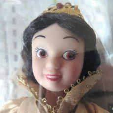 Muñecas Porcelana: MUÑECA PRINCESA BLANCA NIEVES DISNEY PORCELANA CON SU CAJA DE PLÁSTICO. BLANCANIEVES EN BLISTER. Lote 84508004
