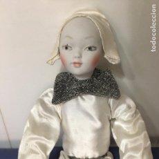 Muñecas Porcelana: MUÑECA ARLEQUIN DE PORCELANA, 50 CM., RAMON INGLES, CON CAJA ORIGINAL. Lote 85776580