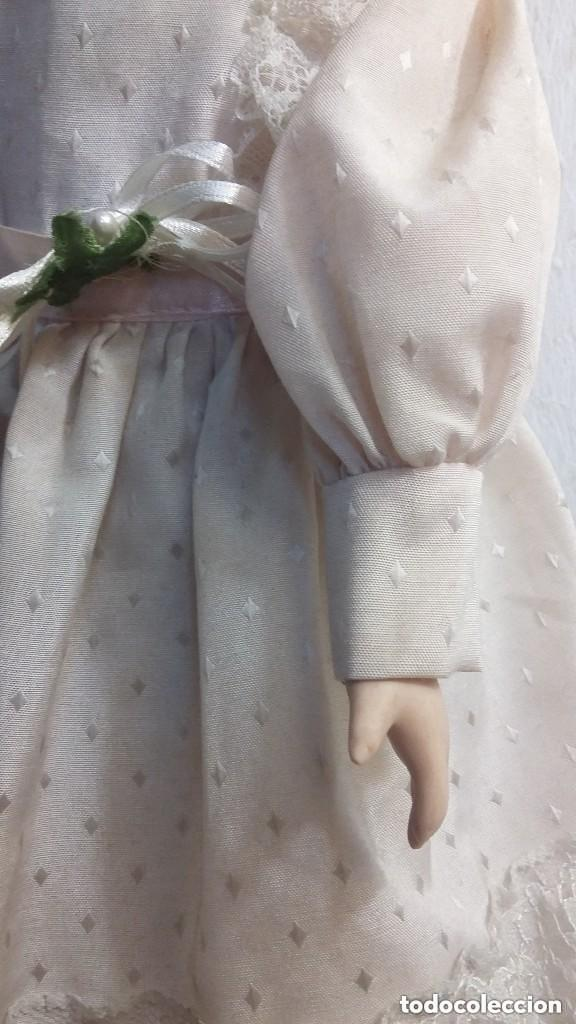 Muñecas Porcelana: grande muñeca de porcelana tela y alambre ojos de cristal - Foto 3 - 86206448