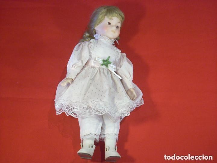 Muñecas Porcelana: grande muñeca de porcelana tela y alambre ojos de cristal - Foto 6 - 86206448