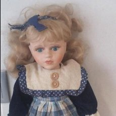 Muñecas Porcelana: MUÑECA ANTIGUA PORCELANA AÑOS 80. Lote 88890304