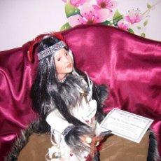 Muñecas Porcelana: MUÑECA INDIA PORCELANA-COLECCIÓN.CERTIFICADO.NUEVA EN CAJA. PRECIOSA.. Lote 89699308