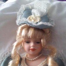 Muñecas Porcelana: PRECIOSA MUÑECA DE PORCELANA. Lote 90890255