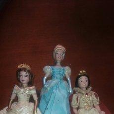 Muñecas Porcelana: LOTE DE MUÑECAS DE PORCELANA PRINCESAS DISNEY. Lote 91599552