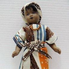 Muñecas Porcelana: MUÑECA DE PORCELANA AFRICANA DE COLECCIÓN EN BUEN ESTADO, MUY BONITA. Lote 93916115