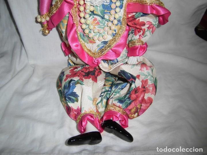 Muñecas Porcelana: BONITO PIERROT DE PORCELANA Y RELLENO MARCADO EN EL CUELLO GELY BOBES - Foto 4 - 94337714