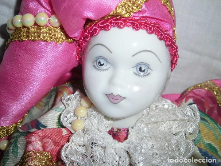 Muñecas Porcelana: BONITO PIERROT DE PORCELANA Y RELLENO MARCADO EN EL CUELLO GELY BOBES - Foto 6 - 94337714