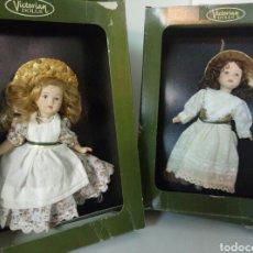 Muñecas Porcelana: VICTORIAN DOLLS LOTE DE 2 PRECIOSAS MUÑECAS DE PORCELANA. Lote 95822052