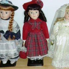 Muñecas Porcelana: LOTE DE 3 MUÑECAS DE PORCELANA.VER DESCRIPCION Y FOTOS.. Lote 97254091