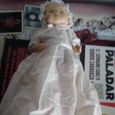 Muñecas Porcelana: MUÑECO MUÑECA BEBE PORCELANA BISCUIT CON FALDON O TRAJE BAUTIZO. Lote 97453607