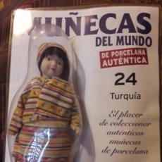Muñecas Porcelana: MUÑECA DE PORCELANA-COLECCION MUÑECAS DEL MUNDO-NUMERO 24- TURQUIA-NUEVA EN BLISTER. Lote 97934267