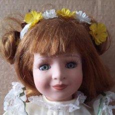 Muñecas Porcelana: GUAPA PELIRROJA DE OJOS VERDES. Lote 97936271