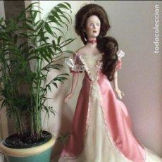 Muñecas Porcelana: MUÑECA DE PORCELANA DE LA FIRMA FRANKLN MINT HEIRLOOM . LAURA GIBSON .55 CM. 1998. Lote 98686539