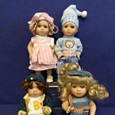 Muñecas Porcelana: 4 MINI MUÑECAS DE PORCELANA DE 17 CM.. Lote 100054627