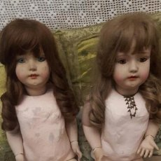Muñecas Porcelana: PAREJA DE MUÑECAS GRAN TAMAÑO EN PORCELANA. Lote 102509963