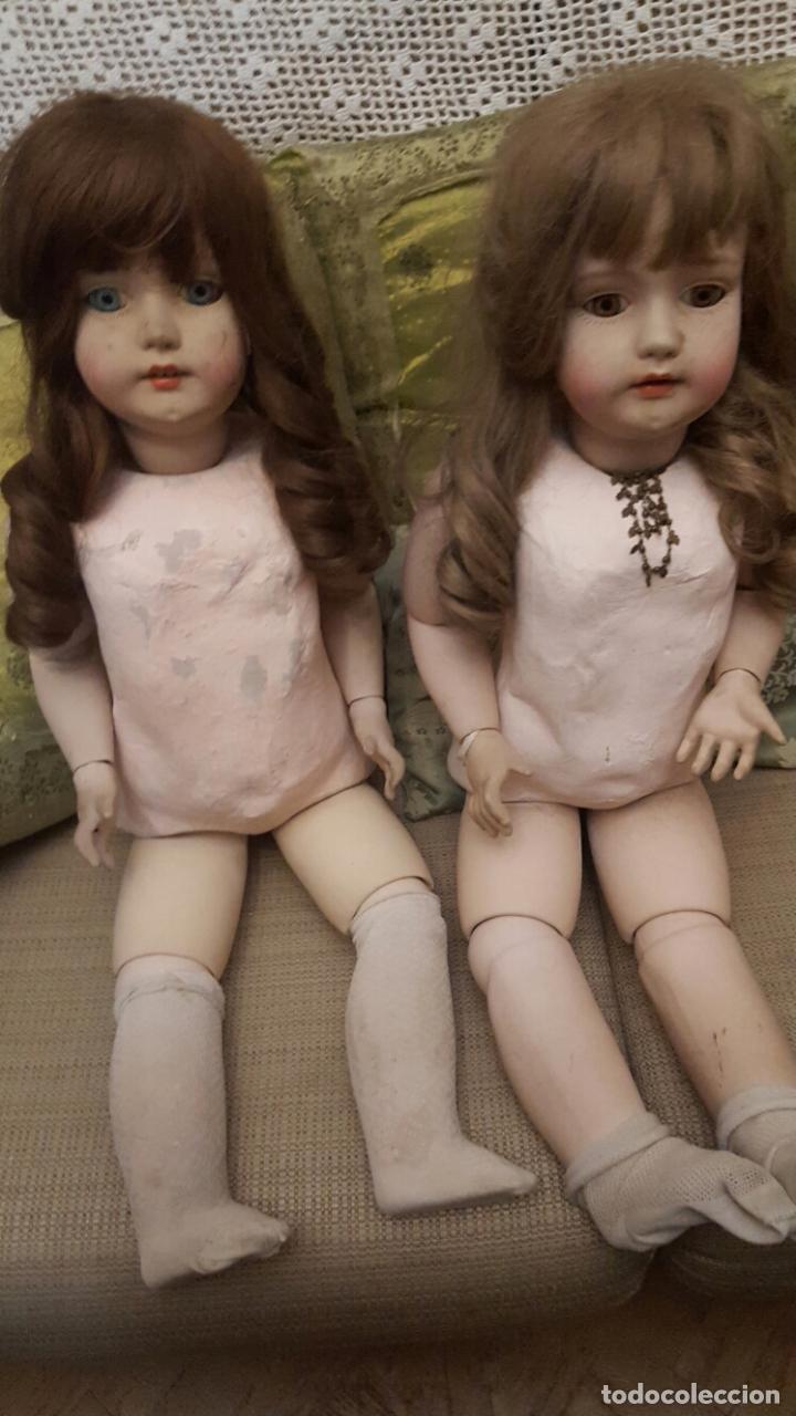 Muñecas Porcelana: Pareja de muñecas gran tamaño en porcelana - Foto 2 - 102509963