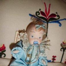 Muñecas Porcelana: MUÑECA DE PORCELANA O BEBE ARTICULADA CREACION DE CAPODIMONTE ITALIA 15 CM. Lote 102829103