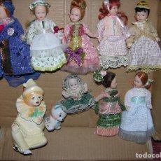 Muñecas Porcelana: LOTE DE SIETE MINI MUÑECAS CON UN BEBE Y UN PAYASO TODO EN PORCELANA EN SU CAJA SIN ESTRENAR. Lote 103041227
