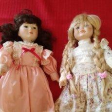 Muñecas Porcelana: DOS MUÑECAS DE PORCELANA. Lote 103901335