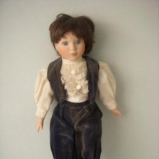 Muñecas Porcelana: ANTIGUO MUÑECO DE PORCELANA, OJOS CRISTAL. Lote 103915871