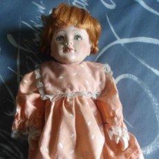 Muñecas Porcelana: ANTIGUA MUÑECA PORCELANA CARA ESMALTADA - CUERPO COMPLETO PORCELANA. Lote 104038135