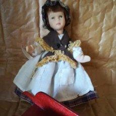 Muñecas Porcelana: MUÑECA PORCELANA CUERPO COMPLETO PORC 15 CM, CAMPESINA. Lote 104088551