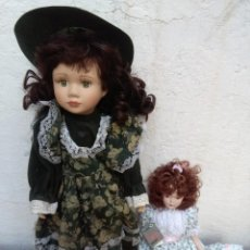 Muñecas Porcelana: DOS MUÑECAS DE PORCELANA MODERNA EN PERFECTO ESTADO. Lote 104102627