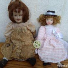 Muñecas Porcelana: DOS MUÑECAS DE PORCELANA MODERNA EN PERFECTO ESTADO. Lote 104102691