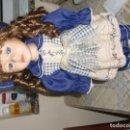 Muñecas Porcelana: EXTRAORDINARIA MUÑECA DE PORCELANA.. Lote 105437019