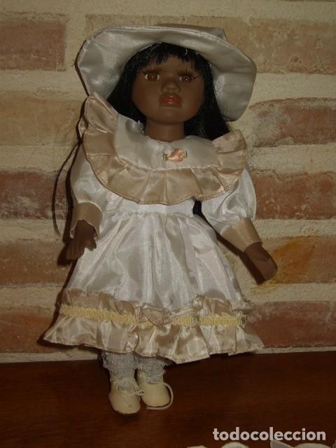 Muñecas Porcelana: MUÑECA NEGRITA O MULATA DE PORCELANA,PELO LARGO. - Foto 2 - 106648283