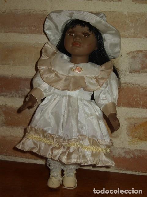 Muñecas Porcelana: MUÑECA NEGRITA O MULATA DE PORCELANA,PELO LARGO. - Foto 3 - 106648283