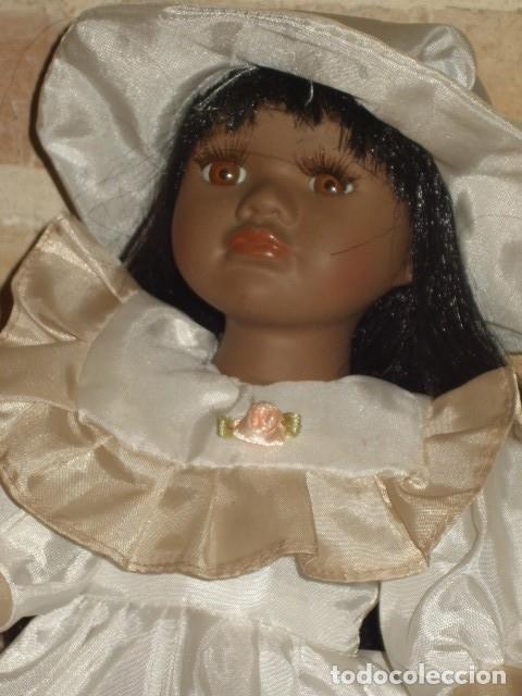 Muñecas Porcelana: MUÑECA NEGRITA O MULATA DE PORCELANA,PELO LARGO. - Foto 4 - 106648283