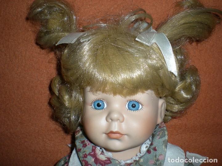 Muñecas Porcelana: graciosa muñeca porcelana carita muy dulce 44 cm completa de origen posiblemente alemania - Foto 3 - 106794223