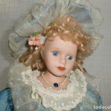 Muñecas Porcelana: EXCELENTE MUÑECA DE PORCELANA ANTIGUA ASÍ COMO SU ROPA TODO EN BUEN ESTADO.. Lote 107724803