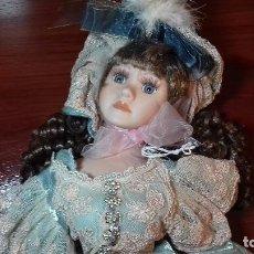Muñecas Porcelana: PRECIOSA MUÑECA DE PORCELANA FRANCESA. Lote 107739199
