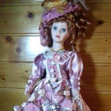 Muñecas Porcelana: MUÑECA DE PORCELANA Y TRAPO FRANCESA. Lote 107807135
