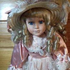 Muñecas Porcelana: MUÑECA DE PORCELANA Y TRAPO FRANCESA. Lote 107807183