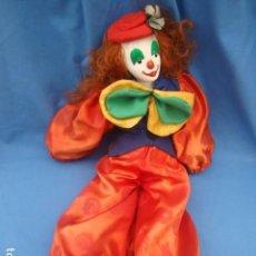 Muñecas Porcelana: PAYASO CON CABEZA DE PORCELANA, CUERPO, MANOS Y PIES DE TRAPO. Lote 108296215