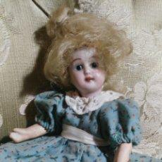 Muñecas Porcelana: MUÑECA SIGLO XIX CON CABEZA DE PORCELANA. Lote 109477726