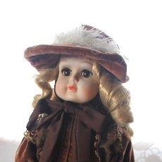 Muñecas Porcelana: PRECIOSA MUÑECA DE PORCELANA VICTORIANA-AÑOS 50-60. Lote 109653491