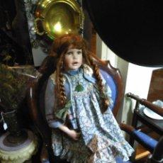 Muñecas Porcelana: IMPRESIONANTE ENORME 83 CM MUÑECA ALEMANA PORCELANA FIRMADA NÚMERADA Nº 588 PERFECTO ESTADO 1700 EUR. Lote 111122075