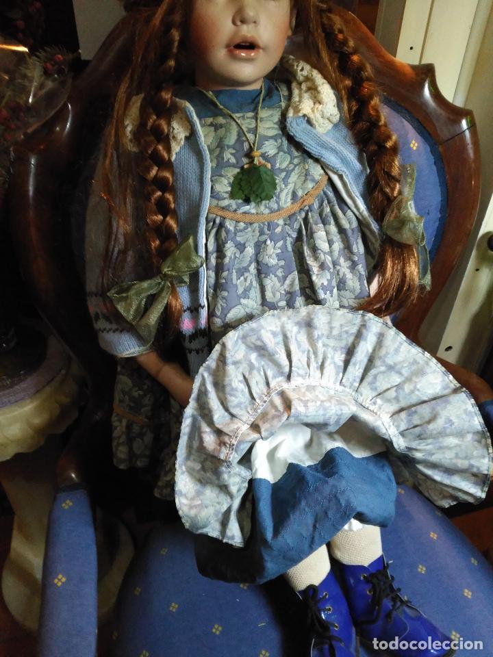 Muñecas Porcelana: IMPRESIONANTE ENORME 83 cm MUÑECA ALEMANA PORCELANA FIRMADA NÚMERADA nº 588 PERFECTO ESTADO 1700 EUR - Foto 4 - 111122075