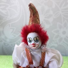 Muñecas Porcelana: PAYASO DE TRAPO CON CARA DE PORCELANA-25 CM. Lote 112467727