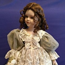 Muñecas Porcelana: PRECIOSA MUÑECA DE ALBERON DE 54 CM.. Lote 113262651