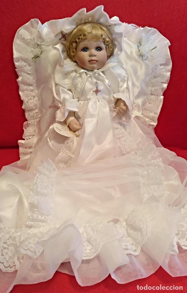 Muñecas Porcelana: Impresionante Bebe de porcelana.En su caja original y con certificado de edicion limitada - Foto 2 - 113263211